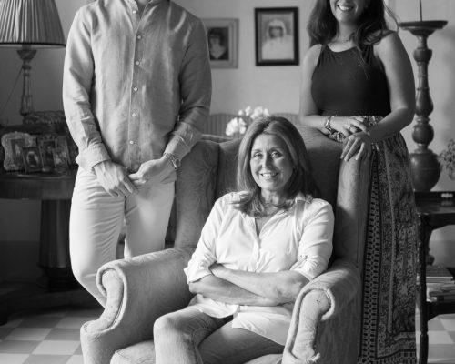 Elisabetta Geppetti con i figli Clara ed Ettore